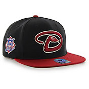 '47 Men's Arizona Diamondbacks Sure Shot Captain Black Adjustable Snapback Hat