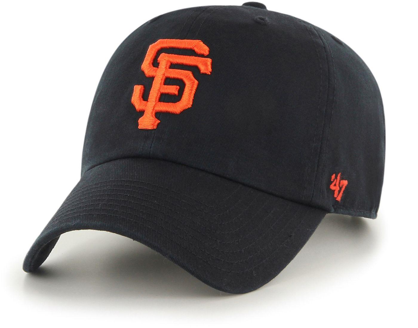 '47 Men's San Francisco Giants Clean Up Black Adjustable Hat