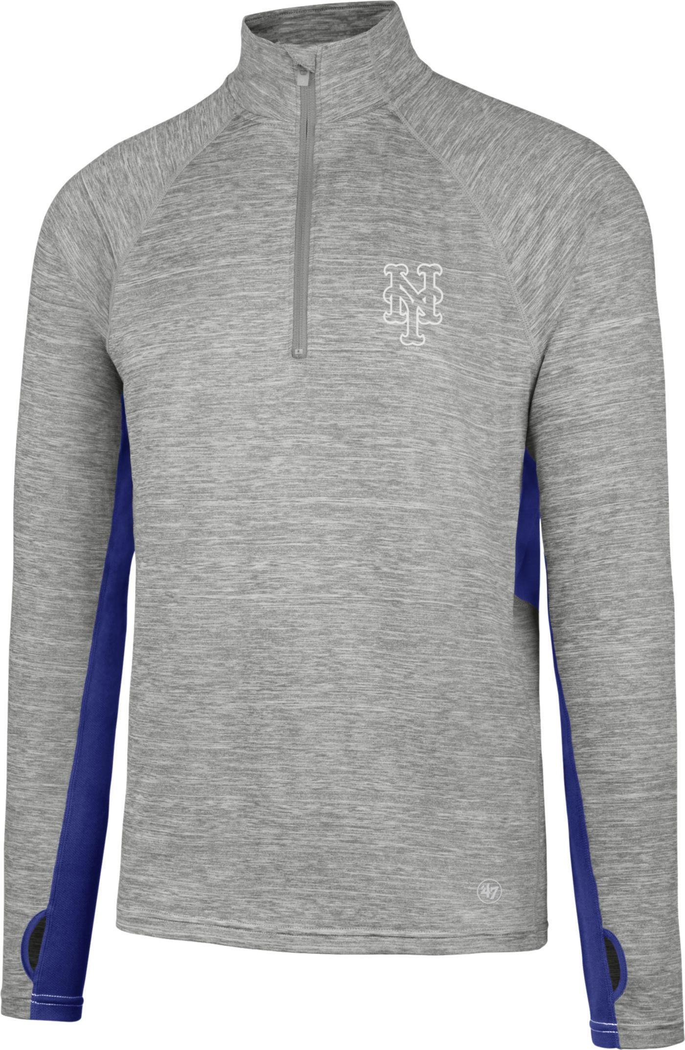'47 Men's New York Mets Grey Quarter-Zip Pullover