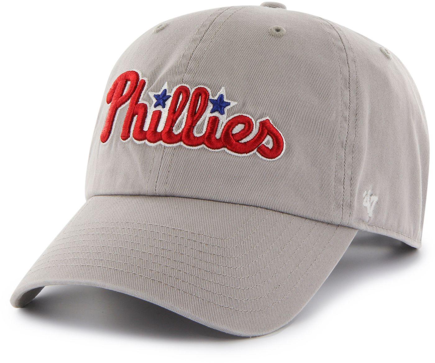 '47 Men's Philadelphia Phillies Clean Up Grey Adjustable Hat