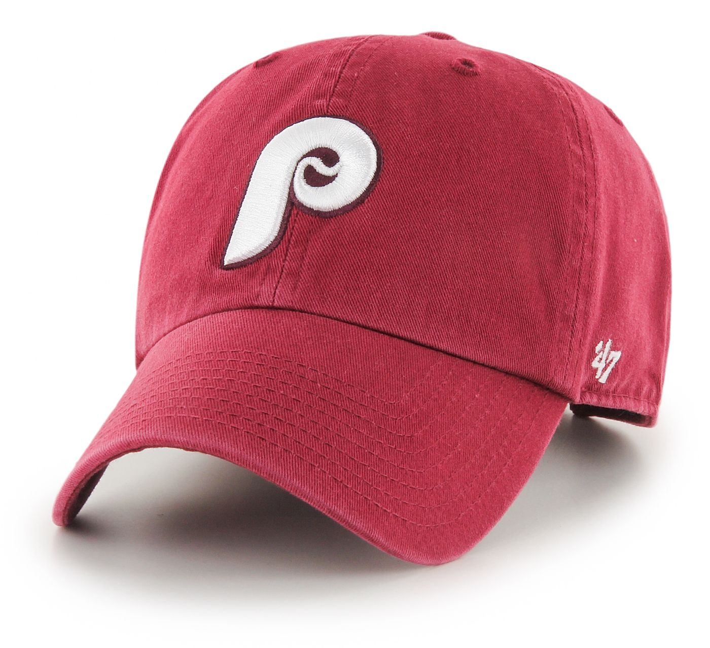 '47 Men's Philadelphia Phillies Clean Up Red Adjustable Hat