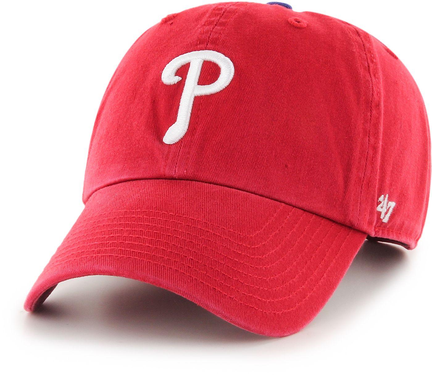 '47 Men's Philadelphia Phillies Clean Up Red Adjustable Hat