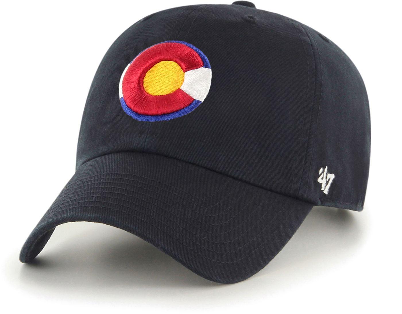 '47 Men's Colorado Rockies Clean Up Black Adjustable Hat