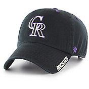 '47 Men's Colorado Rockies Ice Clean Up Black Adjustable Hat