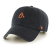 '47 Men's Baltimore Orioles Clean Up Black Adjustable Hat