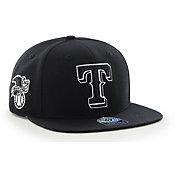 '47 Men's Texas Rangers Black Sure Shot Adjustable Snapback Hat