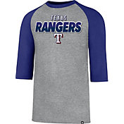 '47 Men's Texas Rangers Club Grey Three-Quarter Sleeve Shirt