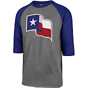 '47 Men's Texas Rangers Club Three-Quarter Sleeve Shirt