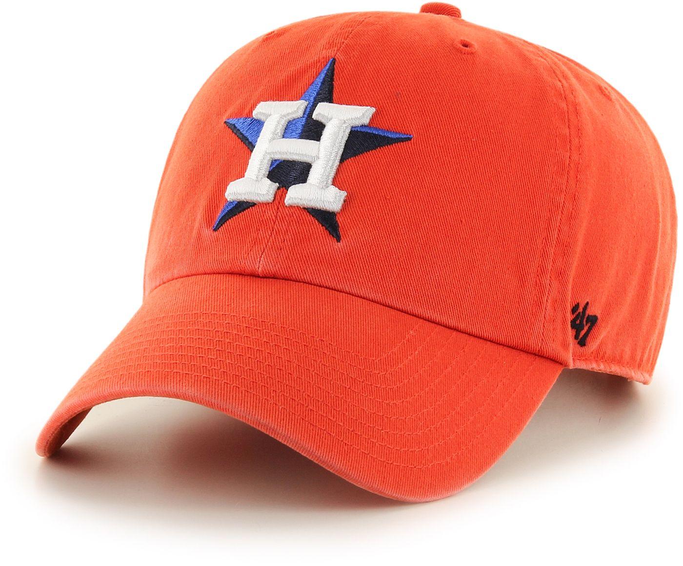 '47 Men's Houston Astros Clean Up Orange Adjustable Hat