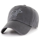 '47 Men's Miami Heat Grey Clean Up Adjustable Hat