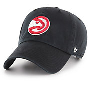 '47 Men's Atlanta Hawks Black Clean Up Adjustable Hat