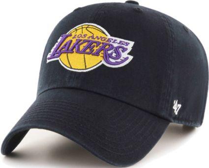 47 Men s Los Angeles Lakers Black Clean Up Adjustable Hat  51c84ec80e7