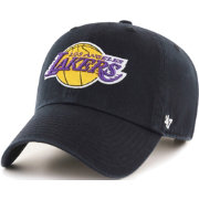 47 Men s Los Angeles Lakers Black Clean Up Adjustable Hat.   6f12f3a61