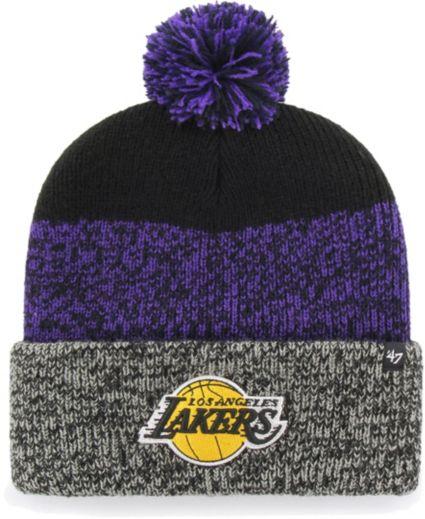 03277fa3e75 47 Men s Los Angeles Lakers Static Black Knit Hat