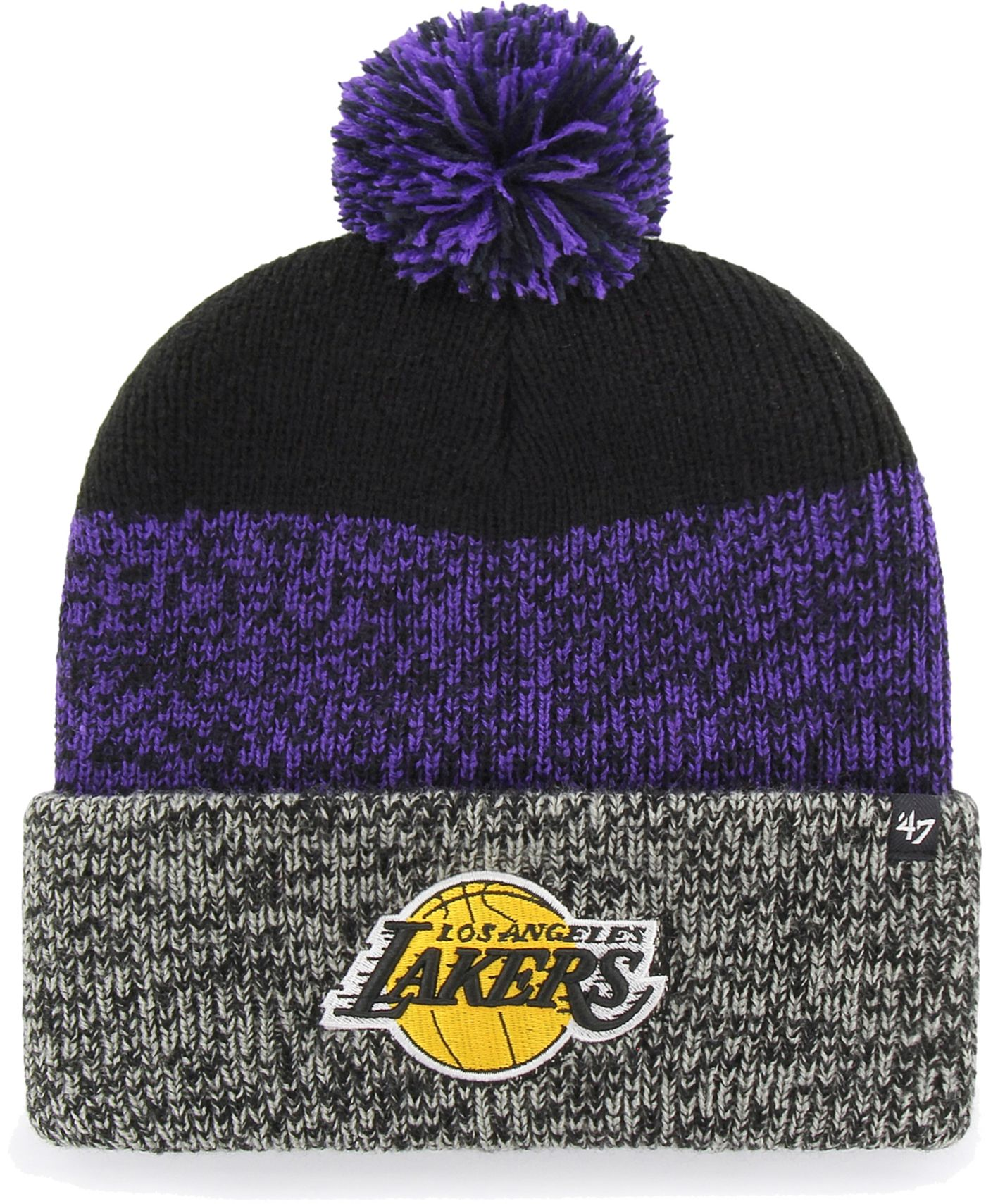 '47 Men's Los Angeles Lakers Static Black Knit Hat