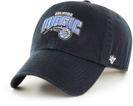 86e92aa5448 47 Men s Orlando Magic Black Clean Up Adjustable Hat