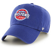 '47 Men's Detroit Pistons Royal Clean Up Adjustable Hat