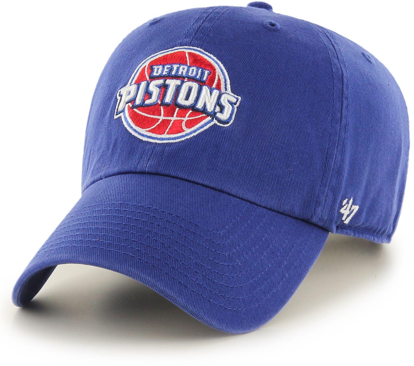 '47 Men's Detroit Pistons Royal Clean Up Adjustable Hat