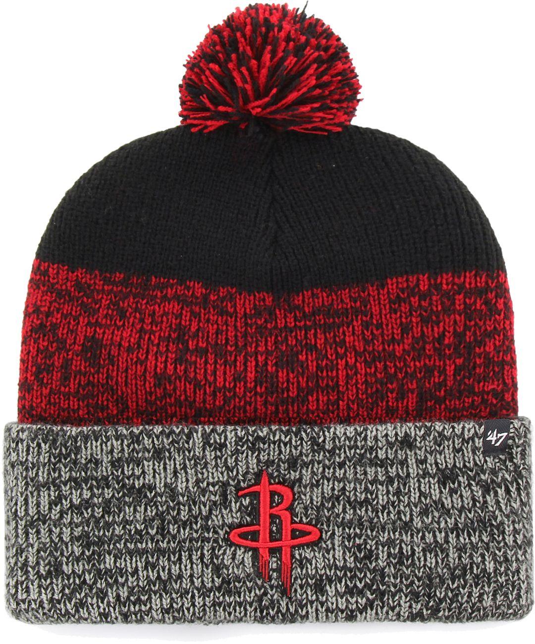 db702b9fc6d  47 Men s Houston Rockets Static Black Knit Hat 1.