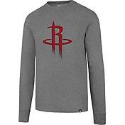 '47 Men's Houston Rockets Club Grey Long Sleeve Shirt