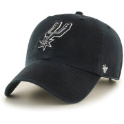 '47 Men's San Antonio Spurs Black Clean Up Adjustable Hat