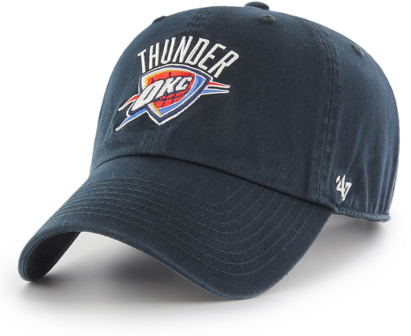 '47 Men's Oklahoma City Thunder Navy Clean Up Adjustable Hat