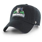 '47 Men's Minnesota Timberwolves Black Clean Up Adjustable Hat