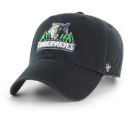 '47 Men's Minnesota Timberwolves Black Clean Up Adjustable Hat
