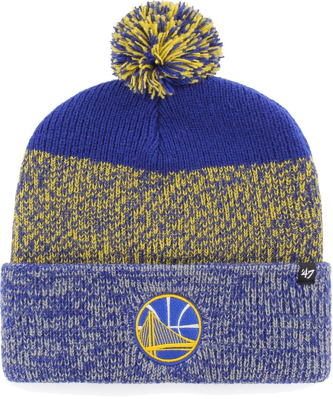 f82d1babd  47 Men s Golden State Warriors Static Royal Knit Hat 1.