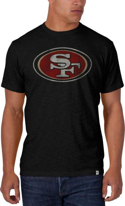 47 Men's San Francisco 49ers Scrum Logo Black T Shirt   DICK'S  for cheap