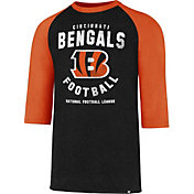 '47 Men's Cincinnati Bengals Club Legacy Black Raglan T-Shirt