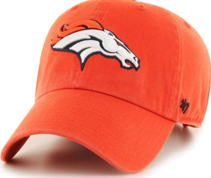 '47 Men's Denver Broncos Clean Up Orange Adjustable Hat