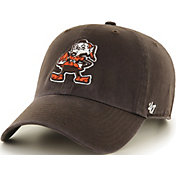 '47 Men's Cleveland Browns Clean Up Throwback Brown Adjustable Hat