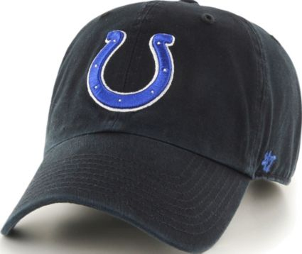 '47 Men's Indianapolis Colts Clean Up Black Adjustable Hat