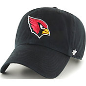 '47 Men's Arizona Cardinals Clean Up Black Adjustable Hat