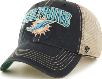 '47 Men's Miami Dolphins Tuscaloosa Clean Up Black Adjustable Hat
