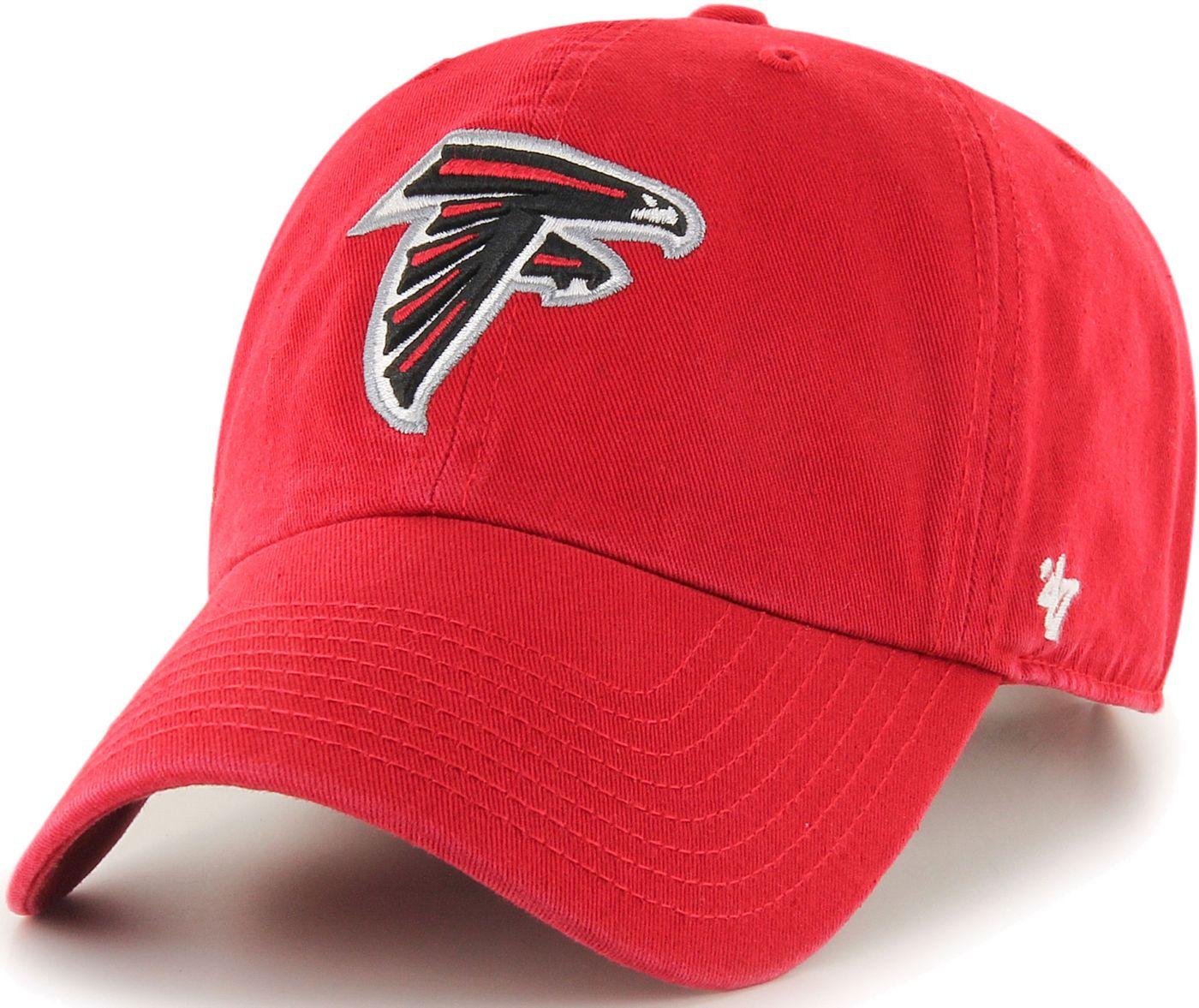 '47 Men's Atlanta Falcons Clean Up Red Adjustable Hat