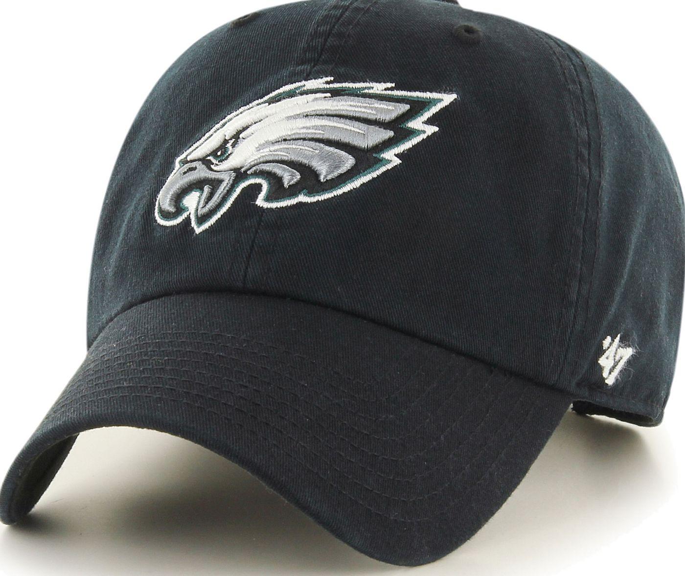 '47 Men's Philadelphia Eagles Clean Up Black Adjustable Hat