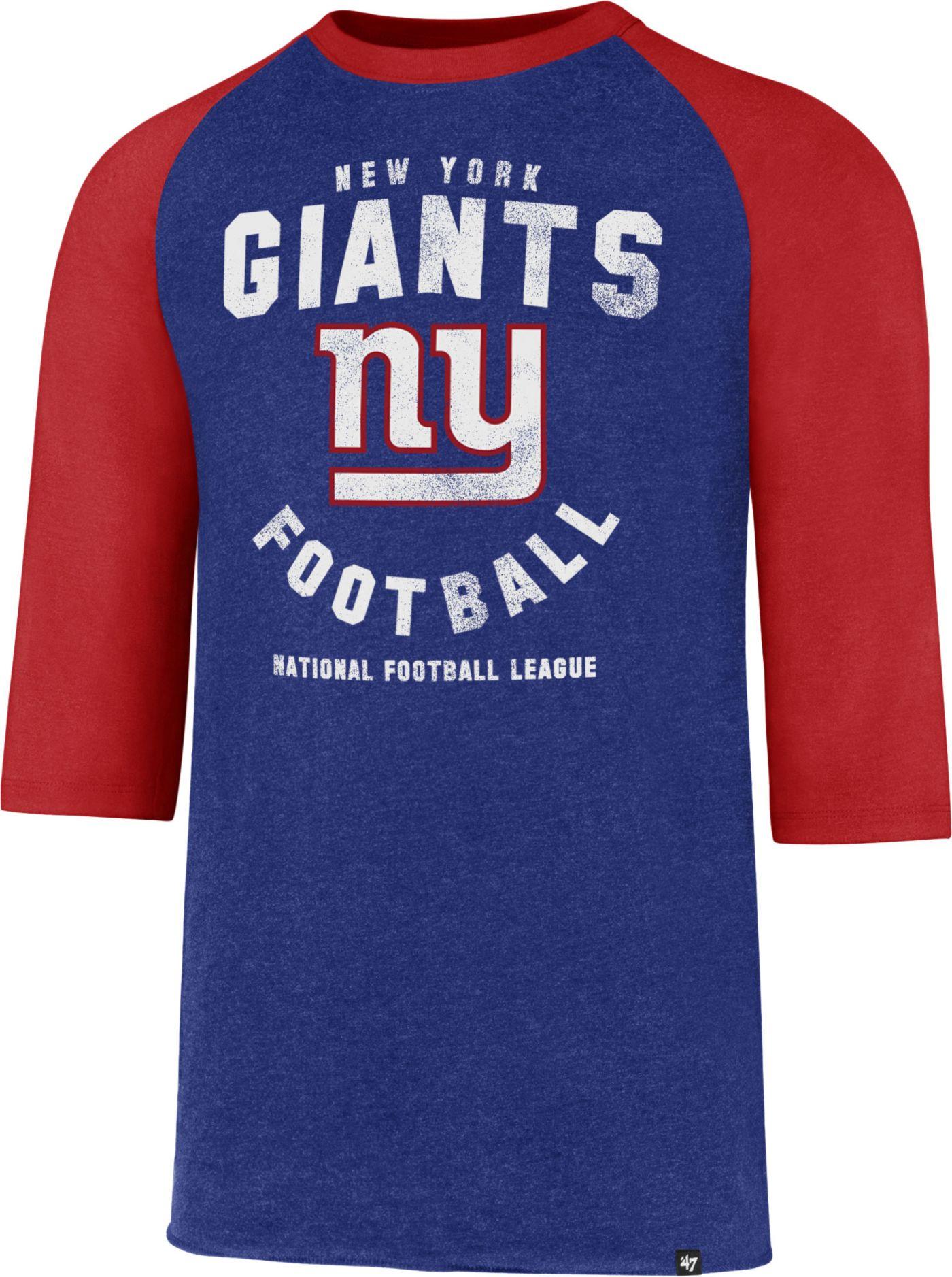 '47 Men's New York Giants Club Legacy Royal Raglan T-Shirt