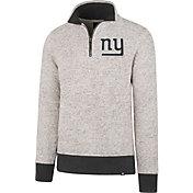 '47 Men's New York Giants Kodiak Quarter-Zip Grey Top