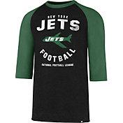 '47 Men's New York Jets Club Legacy Black Raglan T-Shirt