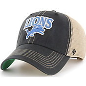 '47 Men's Detroit Lions Tuscaloosa Clean Up Black Adjustable Hat