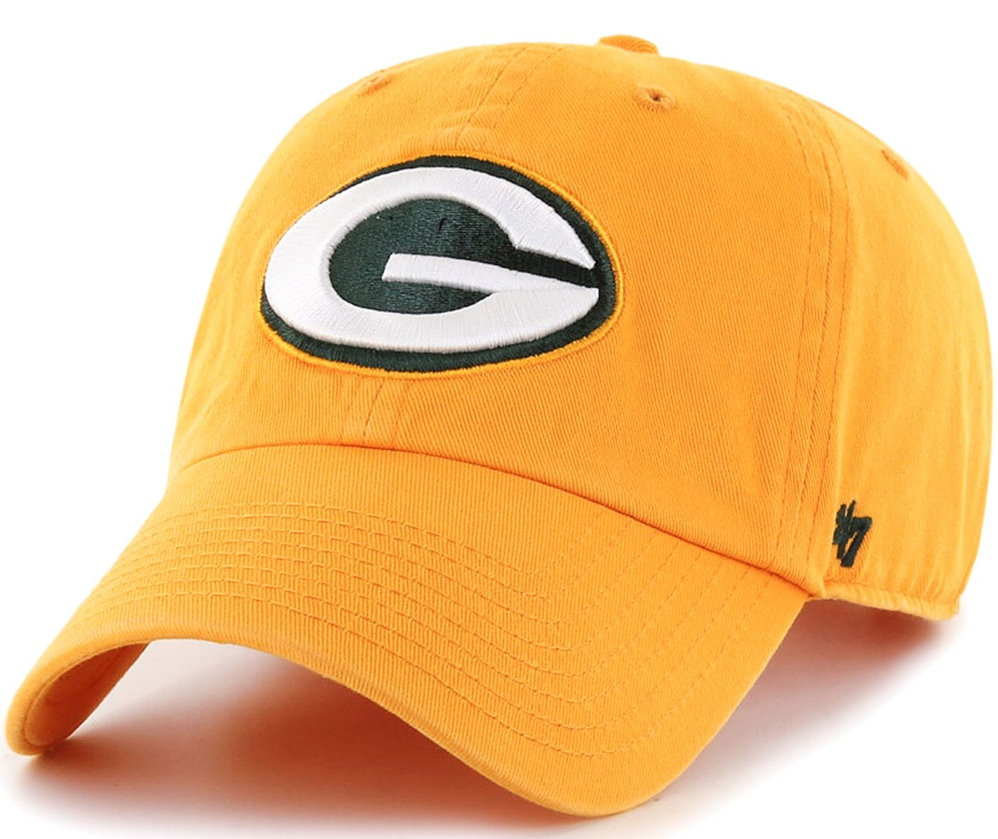'47 Men's Green Bay Packers Clean Up Gold Adjustable Hat