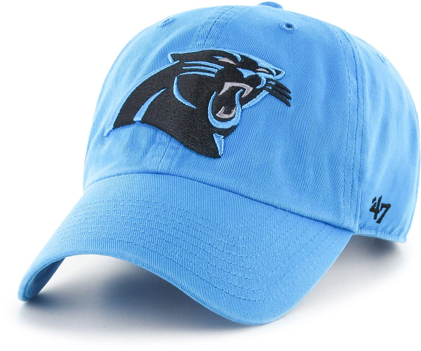 '47 Men's Carolina Panthers Blue Clean Up Adjustable Hat