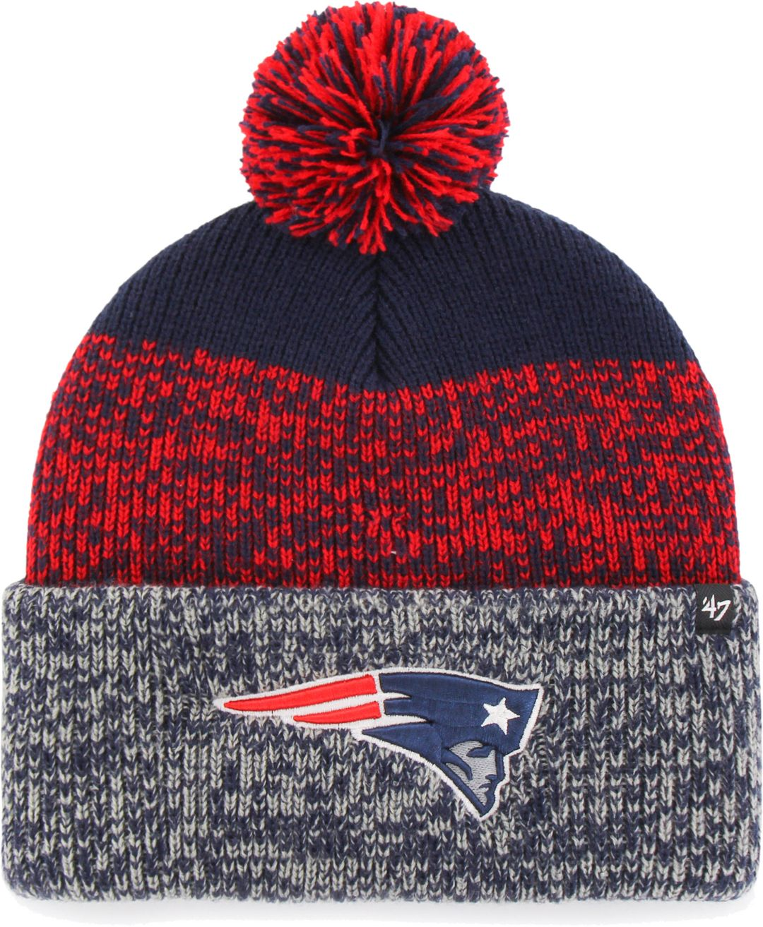 964d9394 47 Men's New England Patriots Static Cuffed Knit   DICK'S Sporting Goods