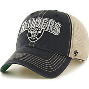 '47 Men's Oakland Raiders Tuscaloosa Clean Up Black Adjustable Hat