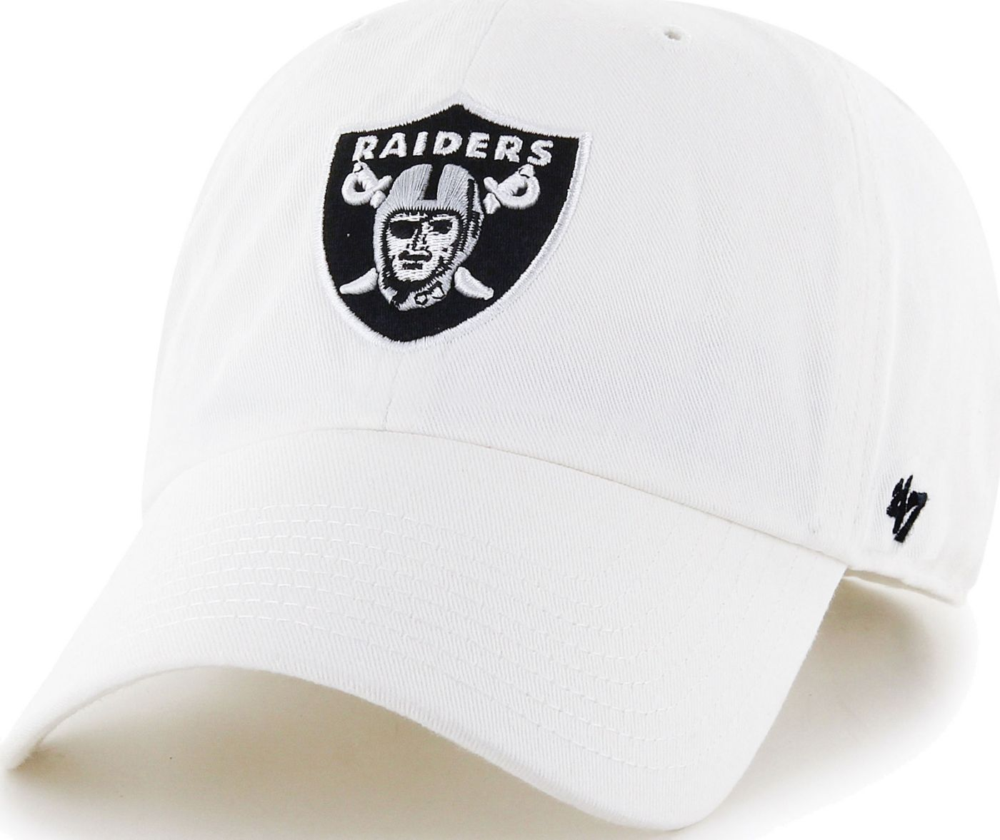 '47 Men's Las Vegas Raiders Clean Up White Adjustable Hat