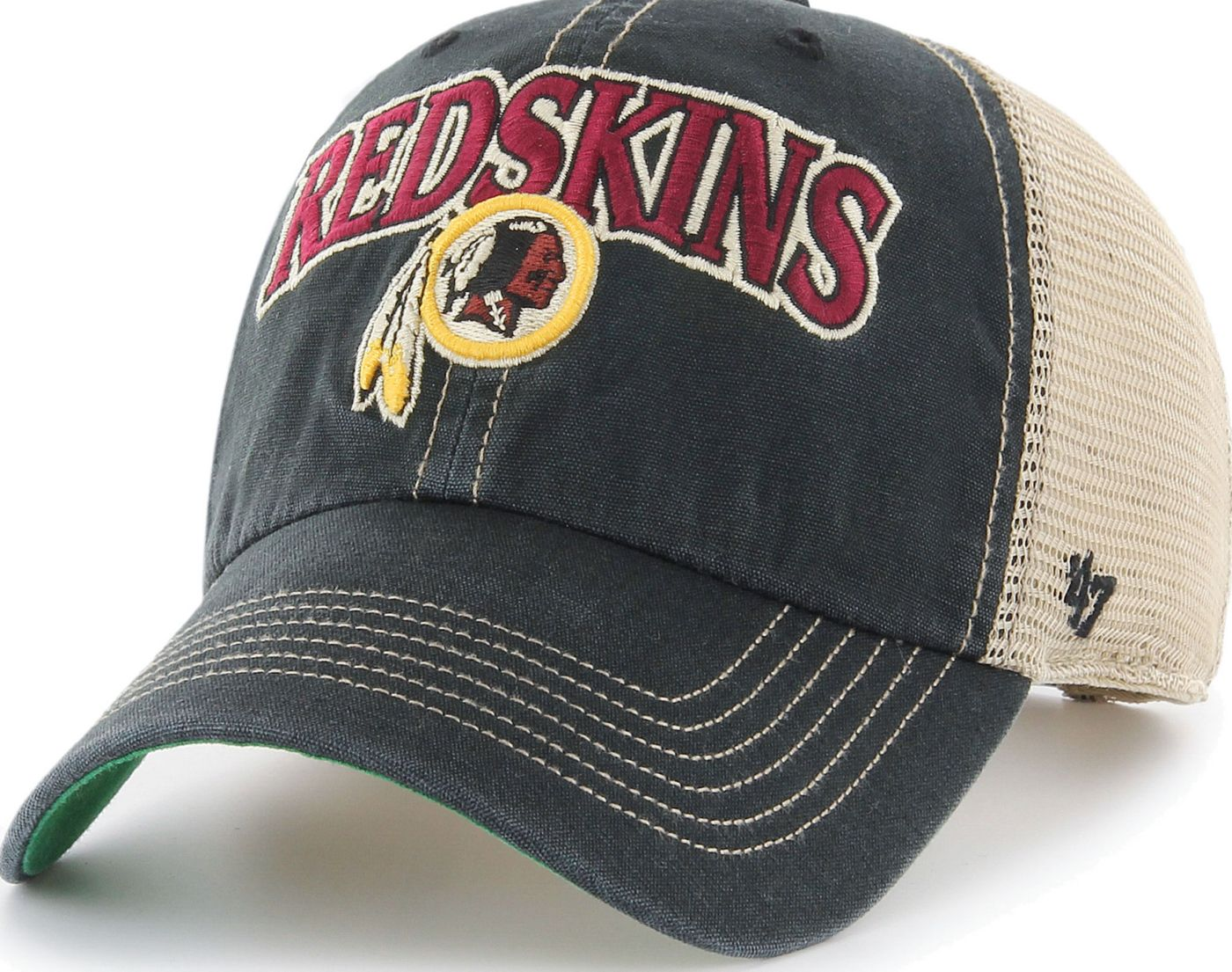 '47 Men's Washington Redskins Tuscaloosa Clean Up Black Adjustable Hat