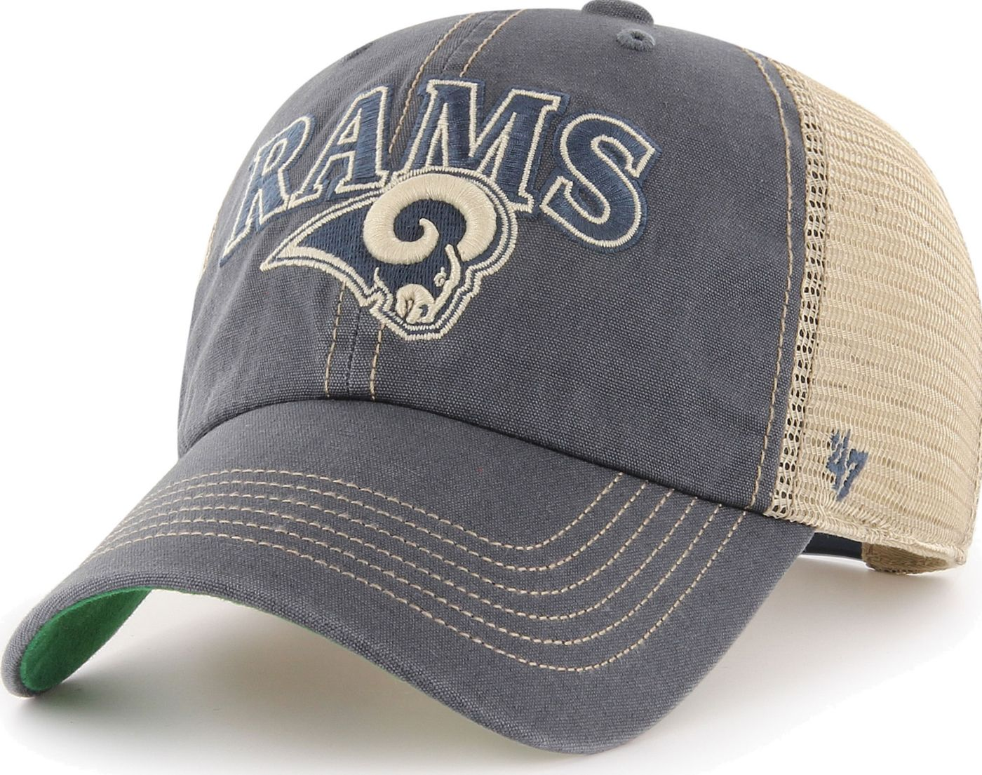'47 Men's Los Angeles Rams Tuscaloosa Clean Up Navy Adjustable Hat