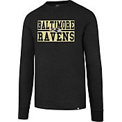 '47 Men's Baltimore Ravens Club Black Long Sleeve Shirt